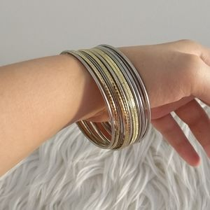 3/$20 Gold and silver metal bangles